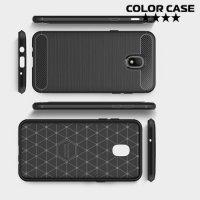 Carbon Силиконовый матовый чехол для Samsung Galaxy J3 2018 SM-J337A - Черный