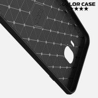Carbon Силиконовый матовый чехол для Samsung Galaxy J4 2018 SM-J400F - Черный