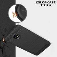 Carbon Силиконовый матовый чехол для Samsung Galaxy J7 2018 - Черный