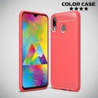 Carbon Силиконовый матовый чехол для Samsung Galaxy M20 - Коралловый