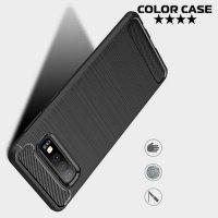 Carbon Силиконовый матовый чехол для Samsung Galaxy S10 - Черный