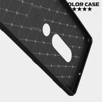 Carbon Силиконовый матовый чехол для Sony Xperia XZ2 Premium - Черный