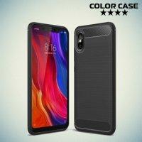Carbon Силиконовый матовый чехол для Xiaomi Mi 8 explorer - Черный