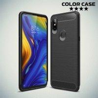 Carbon Силиконовый матовый чехол для Xiaomi Mi Mix 3 - Черный