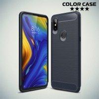 Carbon Силиконовый матовый чехол для Xiaomi Mi Mix 3 - Синий