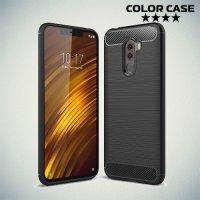Carbon Силиконовый матовый чехол для Xiaomi Pocophone F1 - Черный