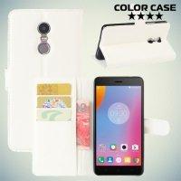 Чехол флип книжка для Lenovo K6 Note - Белый