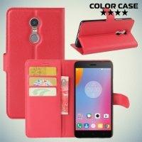 Чехол флип книжка для Lenovo K6 Note - Красный