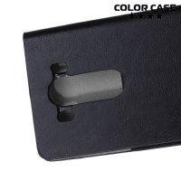 Чехол флип книжка для LG V10 - Черный