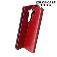Чехол флип книжка для LG V10 - Красный