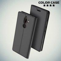 Чехол флип книжка для Nokia 7 Plus - Черный