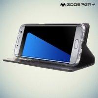 Чехол флип книжка для Samsung Galaxy S7 Edge - Черный