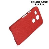 Чехол кейс обтянутый кожей крокодила для LG Nexus 5X - Красный