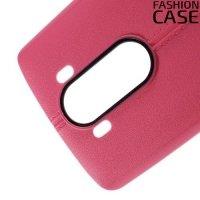 Чехол кейс под кожу для LG V10 - Розовый
