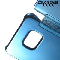 Чехол книжка ColorCase с функцией Clear View Cover для Samsung Galaxy S6 Edge Plus - Синий