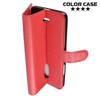 Чехол книжка для Alcatel 3C 5026D - Красный