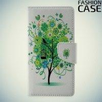 Чехол книжка для Asus ZenFone 3 Max ZC520TL - с рисунком Дерево счастья