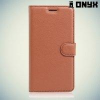 Чехол флип книжка для Asus Zenfone 3 ZE520KL - Коричневый