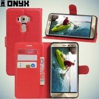 Чехол книжка для Asus Zenfone 3 ZE552KL - Красный