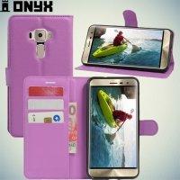Чехол книжка для Asus Zenfone 3 ZE552KL - Фиолетовый