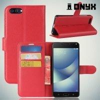 Чехол книжка для Asus Zenfone 4 Max ZC520KL - Красный