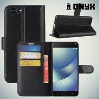 Чехол книжка для Asus Zenfone 4 Max ZC520KL - Черный