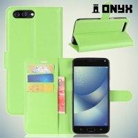 Чехол книжка для ASUS ZenFone 4 Max ZC554KL - Зеленый