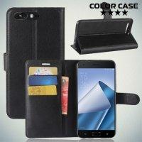 Чехол книжка для Asus Zenfone 4 Pro ZS551KL - Черный