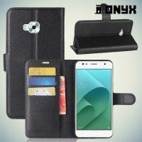 Чехол книжка для Asus Zenfone 4 Selfie ZD553KL / Live ZB553KL - Черный