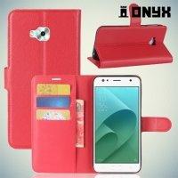 Чехол книжка для Asus Zenfone 4 Selfie ZD553KL / Live ZB553KL - Красный