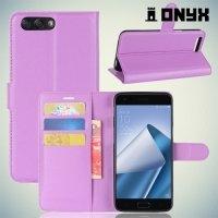 Чехол книжка для Asus Zenfone 4 ZE554KL - Фиолетовый