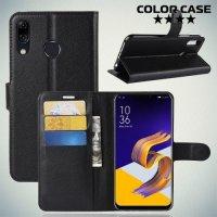 Чехол книжка для Asus Zenfone 5 ZE620KL - Черный