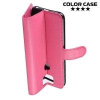 Чехол книжка для Asus Zenfone 6 ZS630KL - Розовый