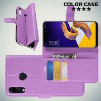Чехол книжка для Asus Zenfone Max M2 ZB633KL - Фиолетовый