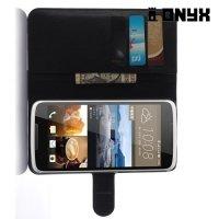 Чехол книжка для HTC Desire 828 - Черный
