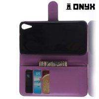 Чехол книжка для HTC Desire 828, 828G Dual SIM  - Фиолетовый