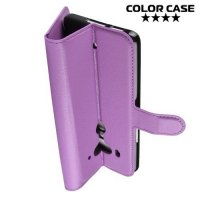 Чехол книжка для HTC U12 Plus - Фиолетовый