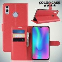 Чехол книжка для Huawei Honor 10 Lite - Красный