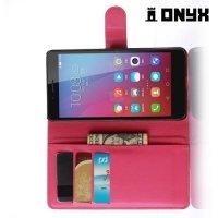 Чехол книжка для Huawei Honor 5X - Красный