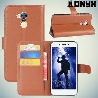 Чехол книжка для Huawei Honor 6A - Коричневый