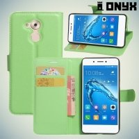 Чехол книжка для Huawei Honor 6C - Зеленый