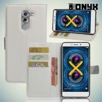 Чехол книжка для Huawei Honor 6x - Белый