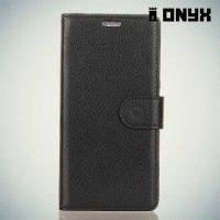 Чехол книжка для Huawei Honor 7C Pro - Черный