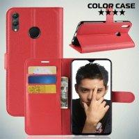 Чехол книжка для Huawei Honor 8X - Красный