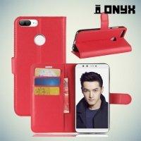 Чехол книжка для Huawei Honor 9 Lite - Красный