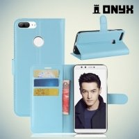 Чехол книжка для Huawei Honor 9 Lite - Голубой