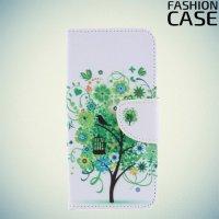 Чехол книжка для Huawei Honor 9 Lite - с рисунком Дерево счастья