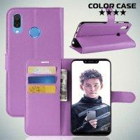 Чехол книжка для Huawei Honor Play - Фиолетовый