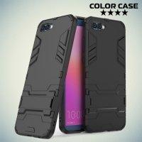 Противоударный гибридный чехол для Huawei Honor View 10 (V10) - Черный