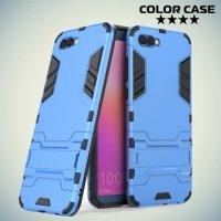 Противоударный гибридный чехол для Huawei Honor View 10 (V10) - Голубой